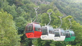 Mountain Cable cars Stock Photos