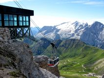 Mountain cableway Royalty Free Stock Photos