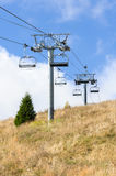 Mountain cableway during the summer Royalty Free Stock Images