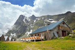 Mountain cafe in french Alps Royalty Free Stock Photography