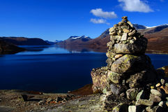 Mountain cairn Royalty Free Stock Images