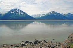 Mountain and a calm Bay Stock Photo