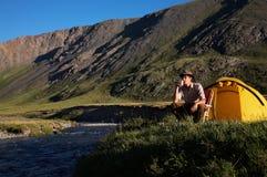 Mountain camp Stock Photography