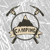 Mountain camp Royalty Free Stock Images