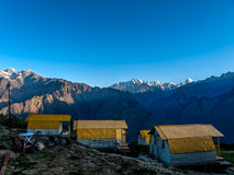 Mountain camp - Himalayas Stock Image