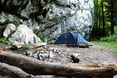 Mountain Camp Royalty Free Stock Photography