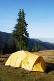 Mountain camp tent in Romania Royalty Free Stock Images