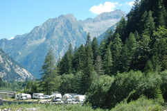 MOUNTAIN CAMPGROUND Royalty Free Stock Images