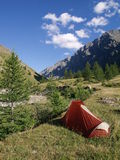 Mountain camping Stock Photography