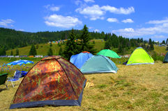 Mountain camping Royalty Free Stock Photography