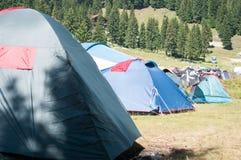 Mountain camping Stock Photo