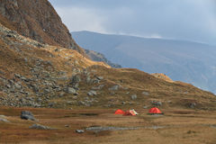 Mountain camping site Royalty Free Stock Images