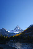 Mountain in Canadian Rockies with blue sky Royalty Free Stock Photo