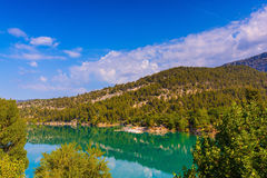 Mountain canyon Verdon in the Alps Royalty Free Stock Photo