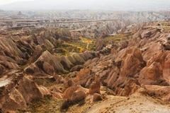 Mountain Cappadocia landscape ,Turkey. Goreme national park. Royalty Free Stock Images