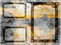Mountain card background Royalty Free Stock Images