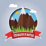 Mountain card Royalty Free Stock Photo