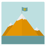 Mountain card. For the traveler. vector format Stock Images