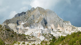 Mountain in Carrara with marble quarries Italy. Stock Images