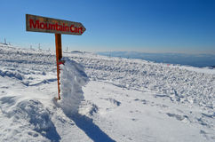 Mountain Cart sign Stock Photo