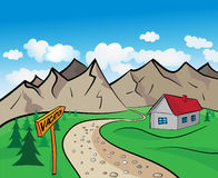 Mountain cartoon Royalty Free Stock Photography