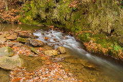 Mountain Cascade Waterfall Stock Image