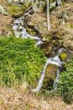 Mountain Cascading Waterfalls. Wild mountain cascading waterfalls located in Blue Ridge Mountains, George Washington National Forest, Nelson County, Virginia Royalty Free Stock Image