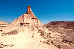 Mountain Castildetierra in Bardenas Reales Nature Park, Navarra, Royalty Free Stock Photography