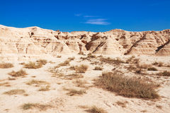 Mountain Castildetierra in Bardenas Reales Nature Park, Navarra, Royalty Free Stock Images