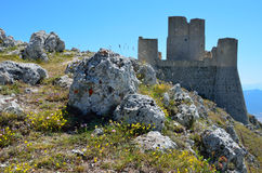Mountain castle of Calascio Royalty Free Stock Image