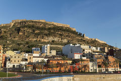 Mountain and castle. Sagunto. Valencian Community. Stock Image