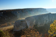 Mountain. Cave city Eski-Kermen Royalty Free Stock Image