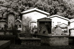 Mountain cemetery Royalty Free Stock Photography