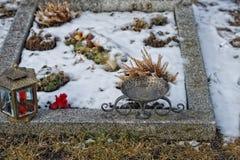Mountain cemetery iron cross Stock Photography