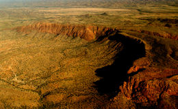 Mountain Chain of Bungle Bungle. West Australia, from above stock photo