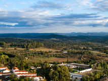 Mountain chain. Mountains in the town of Aracena, Huelva Royalty Free Stock Image