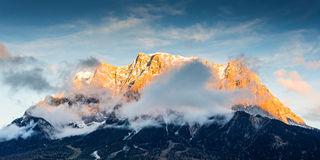 Mountain chain wetterstein in tirol royalty free stock images