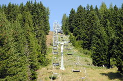 Mountain chair lift Stock Photo