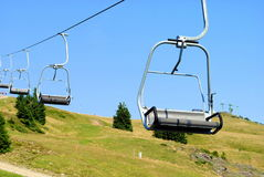Mountain chair lift Stock Photography