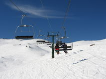 Mountain Chairlift Stock Photo