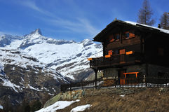 Mountain Chalet Royalty Free Stock Images