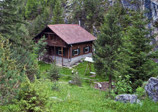 Mountain chalet. Chalet in the Carpathian Mountains, Romania Stock Images