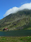 Mountain chalet. Called Bilea in Fagaras Mountains in Romania, Europe stock photography