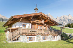 Mountain Chalet in the alps. Austria Stock Images