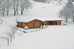 Mountain chalet in the Alps in Italy Stock Photos