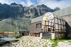 Mountain chalet. Stock Photo