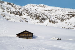 Mountain chalet in italian alps Royalty Free Stock Photos