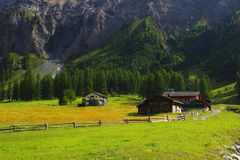 Mountain chalet in Switzerland Stock Photos