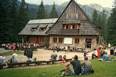 Mountain chalet in tatra mountains Stock Image
