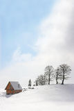 Mountain chalet in winter Royalty Free Stock Images